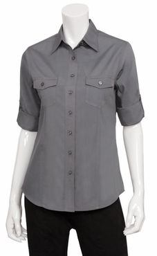 Women's Roll Up Stretch Cafe Shirt