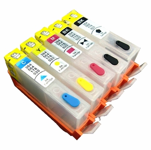 HP 364 Refillable Ink Cartridge with Reset Chip, for   For HP 5510 B109 B110 B209 B210 3070 4620 3520 printers