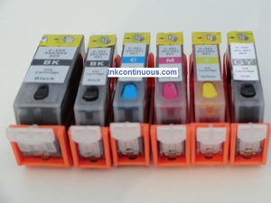 Refillable cartridges for Canon Pixma MG6220 MG8220 MG6120 MG8120