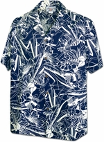 Aloha Friday<br>Men's Hawaiian shirts<br>Matching chest pocket<br>100% Cotton<br>