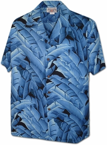 Banana Leaf<br>Men's Hawaiian shirts<br>Matching chest pocket<br>100% Cotton<br>