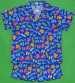 Boys Aloha Hawaiian<br>Boy's Hawaiian Shirt<br>and Matching Pants<br>100% Cotton<br>