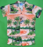 Hawaii's Island Paradise<br>Boy's Hawaiian Shirt<br>and Matching Pants<br>100% Cotton<br>