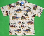 Surfboards Hawaii<br>Boys Hawaiian Shirts<br>Matching Chest Pocket<br>100% Cotton<br>