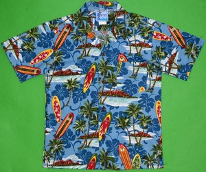 Island Longboards<br>Boys Hawaiian Shirts<br>Matching Chest Pocket<br>100% Cotton<br>