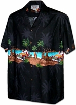 Christmas Santa<br>Men's Hawaiian shirts<br>Matching chest pocket<br>100% Cotton<br>