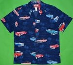 Classic Cars USA<br>Men's Hawaiian Shirt<br>Matching chest pocket<br>100% Cotton<br>