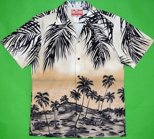 Coconut Palm<br>Men's Hawaiian Shirt<br>Matching chest pocket<br>100% Cotton<br>