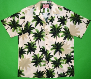 Coconut Palm Tree<br>Men's Hawaiian shirts<br>Matching chest pocket<br>100% Cotton<br>