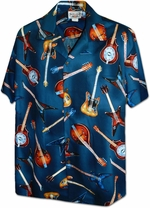 Electric Guitars<br>Men's Hawaiian shirts<br>Matching chest pocket<br>100% Cotton<br>
