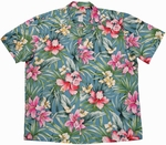 Garden Lily<br>Hawaiian Shirt<br>Matching chest pocket<br>100% Cotton<br>