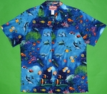 Hanauma Bay<br>Men's Hawaiian Shirt<br>Matching Chest Pocket<br>100% Cotton<br>