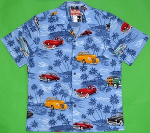 Hawaiian Clothing<br>Men's Hawaiian Shirt<br>Matching chest pocket<br>100% Cotton<br>