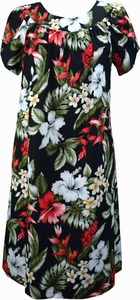 Hibiscus Garden<br>Hawaiian Muumuu Dress<br>100% Cotton<br>