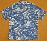 Hawaiian Island Paradise<br>Men's Hawaiian Shirt<br>Matching Chest Pocket<br>100% Cotton<br>