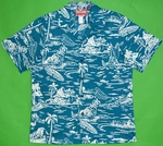 Hawaiian Island Paradise<br>Men's Hawaiian shirts<br>Matching chest pocket<br>100% Cotton<br>