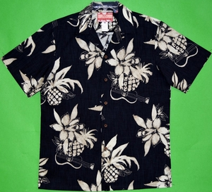Hawaiian Pineapple<br>Men's Hawaiian Shirt<br>Matching chest pocket<br>100% Cotton<br>