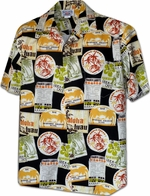 Vacation Aloha Shirt<br>Men's Hawaiian shirts<br>Matching chest pocket<br>100% Cotton<br>