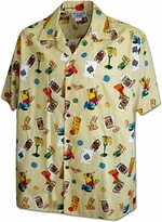 Lucky Hawaiian Shirt<br>Men's Hawaiian shirts<br>Matching chest pocket<br>100% Cotton<br>