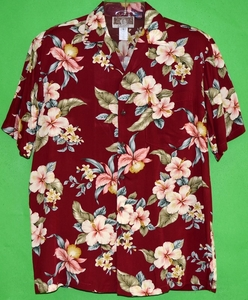 Hawaiian Hibiscus<br>Men's Hawaiian Shirt<br>Matching chest pocket<br>100% Rayon<br>