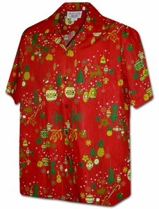 Merry Christmas<br>Hawaiian Shirts<br>Matching chest pocket<br>100% Cotton<br>