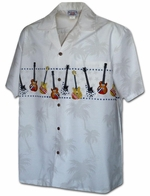 Guitar Collection<br>Hawaiian Shirts<br>Matching chest pocket<br>100% Cotton<br>