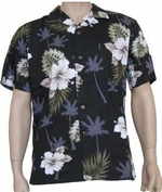 Hibiscus Hawaiian<br>Hawaiian Aloha Shirt<br>Matching Chest Pocket<br>100% Cotton<br>