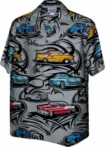 Hot Rods<br>Mens Hawaiian Shirts<br>Matching chest pocket<br>100% Cotton<br>