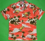 Island Paradise<br>Men's Hawaiian Shirt<br>Matching Chest Pocket<br>100% Cotton<br>