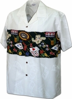 Las Vegas<br>Men's Hawaiian shirts<br>Matching chest pocket<br>100% Cotton<br>