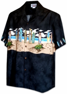 Longboard Hawaiian<br>Boy's Hawaiian Shirt<br>100% Cotton<br>