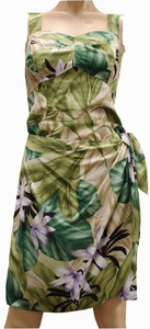 Orchid Jungle<br>Hawaiian Dresses<br>100% Rayon<br>