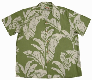 Paradise Banana<br>Men's Hawaiian shirts<br>Matching chest pocket<br>100% Rayon<br>