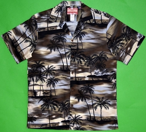 Paradise Beach<br>Mens Hawaiian Shirt<br>Matching Chest Pocket<br>100% Cotton<br>