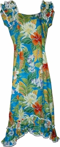 Paradise Hibiscus<br>Hawaiian Muumuu<br>100% Cotton<br>