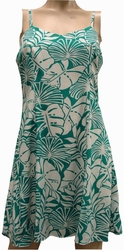 Pareau Leaves<br>Hawaiian Dresses<br>100% Rayon<br>