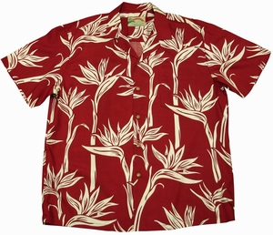 Pareau Paradise<br>Men's Hawaiian shirts<br>Matching chest pocket<br>100% Rayon<br>