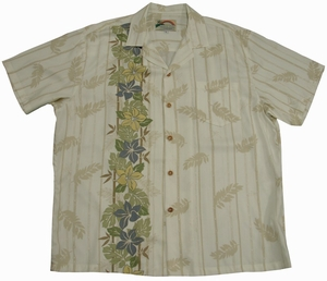 Plumeria Panel<br>Men's Hawaiian shirts<br>Matching chest pocket<br>100% Rayon<br>