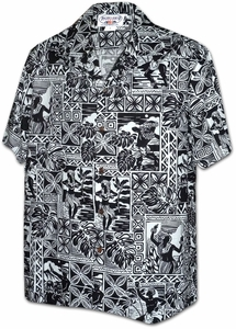 Polynesian Cultural Center<br>Mens Hawaiian Shirts<br>Matching chest pocket<br>100% Cotton<br>
