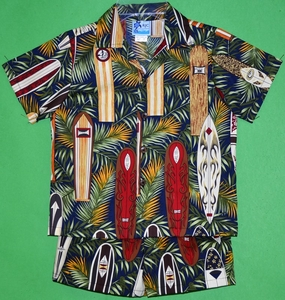 Surfboards Collection<br>Boy's Hawaiian Shirt <br>and Matching Pants<br>100% Cotton<br>