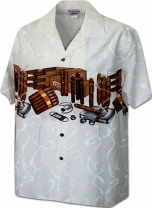 The Best Cigars<br>Men's Hawaiian shirts<br>Matching chest pocket<br>100% Cotton<br>