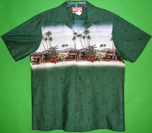 Traditional Hawaiian Cultural<br>Men's Hawaiian shirts<br>Matching chest pocket<br>100% Cotton<br>