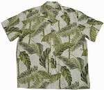 Tree Tops<br>Men's Hawaiian shirts<br>Matching chest pocket<br>100% Rayon<br>
