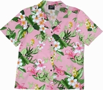 Tropical Garden<br>Women's Hawaiian Shirt<br>100% Cotton<br>