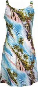 Vacation Aloha Dress <br> Hawaiian Dresses<br>100% Rayon<br>