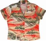 Vacation Aloha Shirt<br>Women's Hawaiian Shirt<br>100% Rayon<br>
