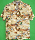 Vacations Hawaii<br>Men's Hawaiian Shirt<br>Matching chest pocket<br>100% Rayon<br>
