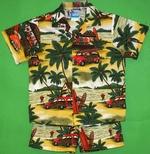 Woodie Shirt<br>Boy's Hawaiian Shirt <br>and Matching Pants<br>100% Cotton<br>
