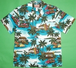 Woodie Shirt<br> Men's Hawaiian Shirt<br>Matching chest pocket<br>100% Cotton<br>
