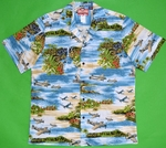 World War II<br>Men's Hawaiian shirts<br>Matching chest pocket<br>100% Cotton<br>